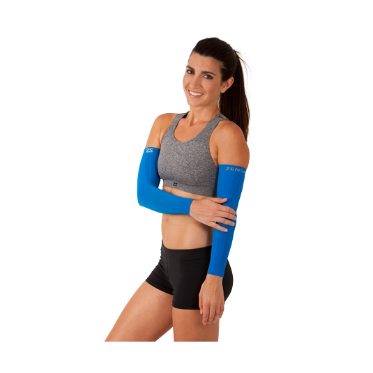 Compression Arm Sleeves - Blue Woman