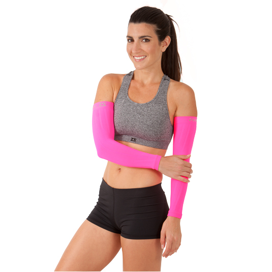 Compression Arm Sleeves - Neon Pink