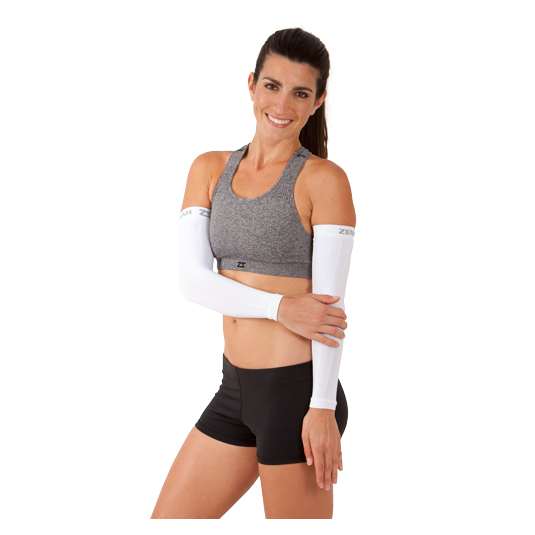 Compression Arm Sleeves - White woman