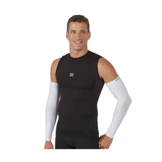 Compression Arm Sleeves - White Male